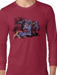 Weird Cursed British blue Phone box Monster Long Sleeve T-Shirt