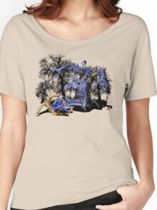 Weird Cursed British blue Phone box Monster Women's Relaxed Fit T-Shirt