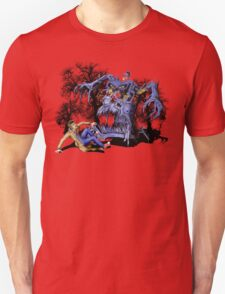 Weird Cursed British blue Phone box Monster Unisex T-Shirt