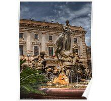 La fontana di Diana - Siracusa Poster