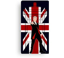Union Jack British Flag with 12th Doctor Canvas Print