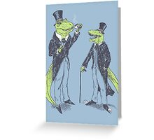 Tea Rex and Velo Sir Raptor Greeting Card