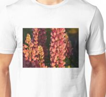 Hot Pink Lupines From My Mother's Garden Unisex T-Shirt