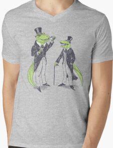 Tea Rex and Velo Sir Raptor Mens V-Neck T-Shirt