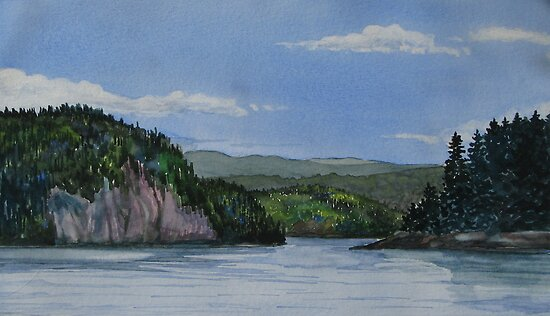 Entrance to Coldwell Ontario - watercolour by loralea