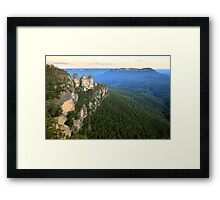 Three Sisters Twilight, Blue Mountains, Australia Framed Print