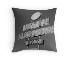 Forgotten Road side Motel. Throw Pillow