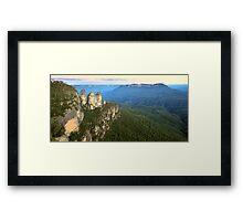 Three Sisters Twilight, Blue Mountains, Australia Framed Print