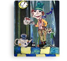 The Mad hatters tea Party.. Canvas Print