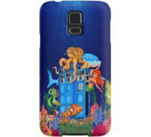 Blue Phone Booth Under the sea Samsung Galaxy Case/Skin