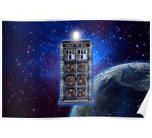 Time and Space travel Steampunk machine Poster