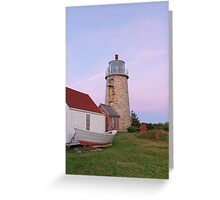Monhegan Island Light at Sunset Greeting Card