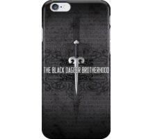 The Black Dagger Brotherhood  [black text] iPhone Case/Skin