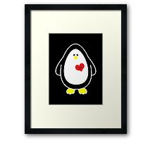 Lovable Penguin Framed Print