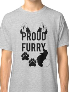 PROUD FURRY  -clear tips- Classic T-Shirt
