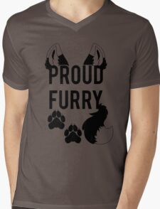 PROUD FURRY  -clear tips- Mens V-Neck T-Shirt