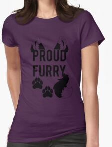 PROUD FURRY  -clear tips- Womens Fitted T-Shirt