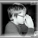 Boy Saying Grace by Debbie Robbins