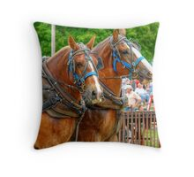 A Horse with a Moustache? Throw Pillow