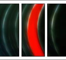 Vinyl Triptych by Ricky Pfeiffer