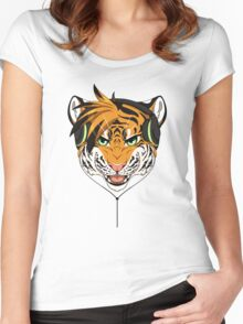 Headphone Tiger Women's Fitted Scoop T-Shirt