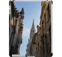 Catching a Glimpse of Grand Place, Brussels, Belgium  iPad Case/Skin