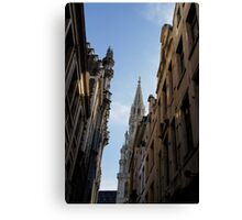 Catching a Glimpse of Grand Place, Brussels, Belgium  Canvas Print