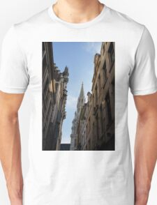 Catching a Glimpse of Grand Place, Brussels, Belgium  T-Shirt