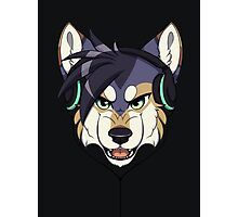 Headphone Wolf Photographic Print
