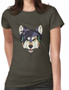 Headphone Wolf Womens Fitted T-Shirt