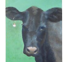 Cow with a Pearl Earring by PhyllisGAndrews