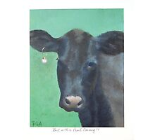Cow with a Pearl Earring Photographic Print