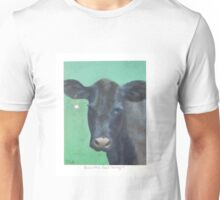 Cow with a Pearl Earring Unisex T-Shirt