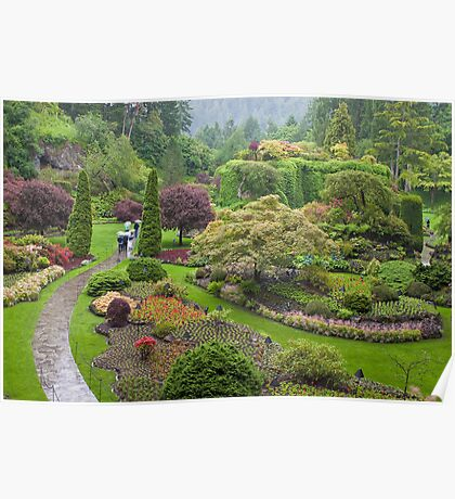 Late Spring at the Butchart Gardens Poster