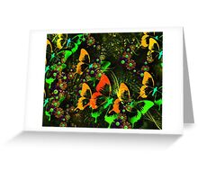 Vintage Abstract Floral Pattern Greeting Card