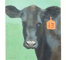Cow number 13 by PhyllisGAndrews