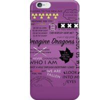 Imagine Dragons Poster iPhone Case/Skin