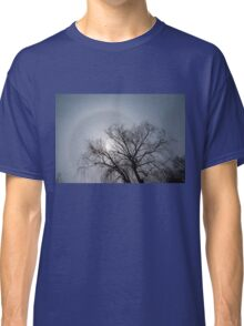 Sun Halo, Trees And Silver Gray Winter Sky Classic T-Shirt