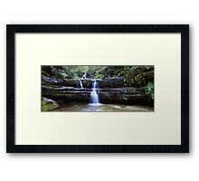 Terrance Falls, Blue Mountains, Australia Framed Print