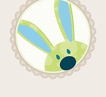 BUNNIES :: peeking circle 3 by Kat Massard