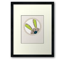 BUNNIES :: peeking circle 4 Framed Print