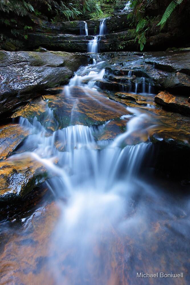 Terrance Falls, Blue Mountains, Australia by Michael Boniwell