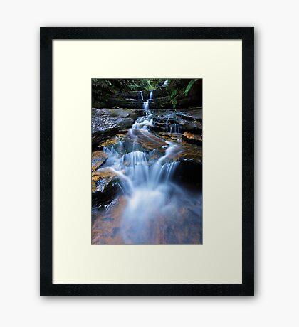 Terrance Falls, Blue Mountains, Australia Framed Print