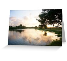 Sunset over the lake - Brazos Bend State Park Greeting Card