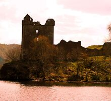 Urquhart Castle on Loch Ness Scotland by celticfae01