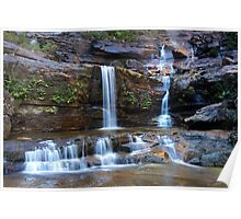 Upper Wentworth Falls, Blue Mountains, Australia Poster