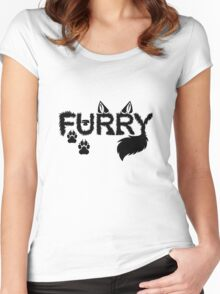 Furry Women's Fitted Scoop T-Shirt