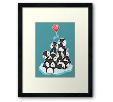 Penguin mountain Framed Print