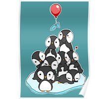 Penguin mountain Poster