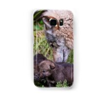 Timber Wolf And Pups Samsung Galaxy Case/Skin